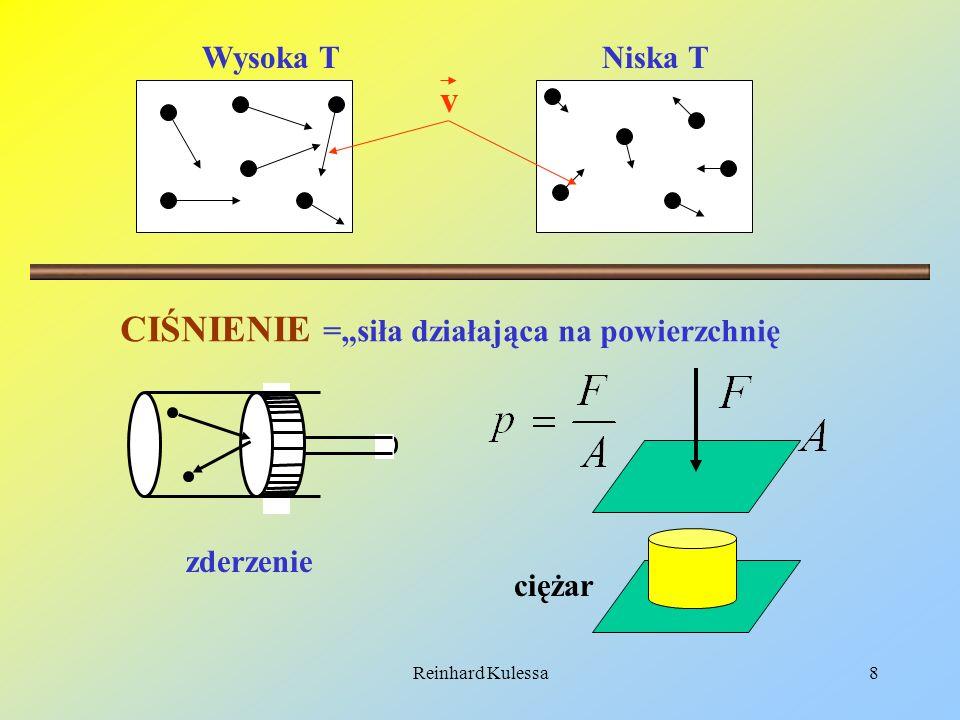 Reinhard Kulessa9 GĘSTOŚĆ =masa na jednostkę objętości Duża gęstośćMała gęstość … ……….