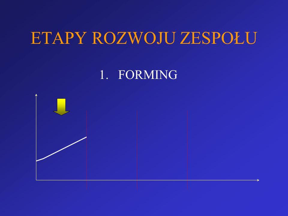 ETAPY ROZWOJU ZESPOŁU 1.FORMING