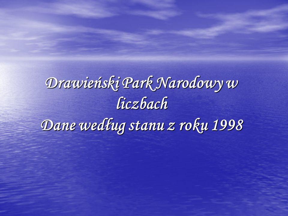 Drawieński Park Narodowy w liczbach Dane według stanu z roku 1998
