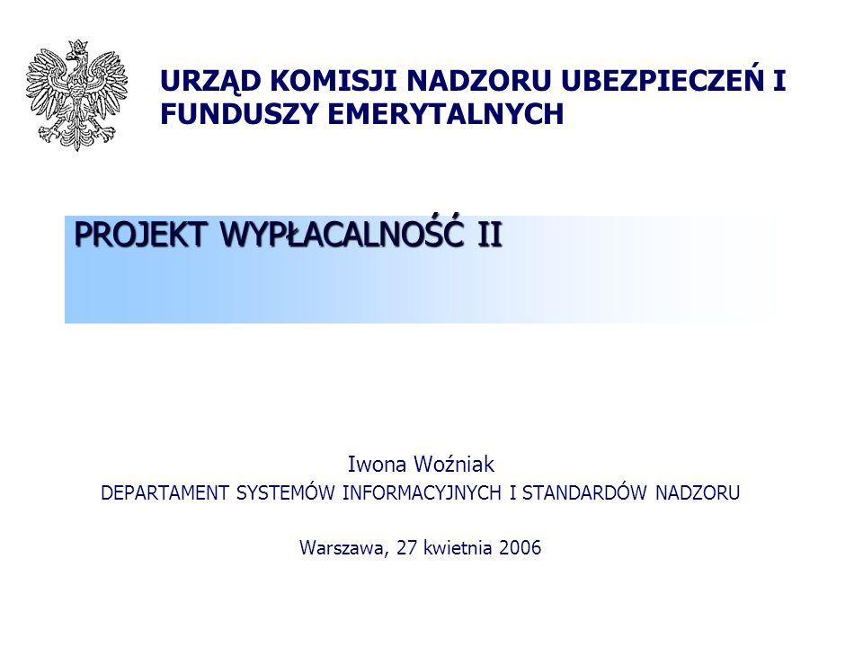 2 Plan prezentacji Projekt Wypłacalność II – główne cele i założenia Strony zaangażowane w projekt Wypłacalność II Główne elementy nowego systemu wypłacalności (filar I) Główne elementy nowego systemu wypłacalności (filar II i III) Ilościowe badania wpływu (QIS)