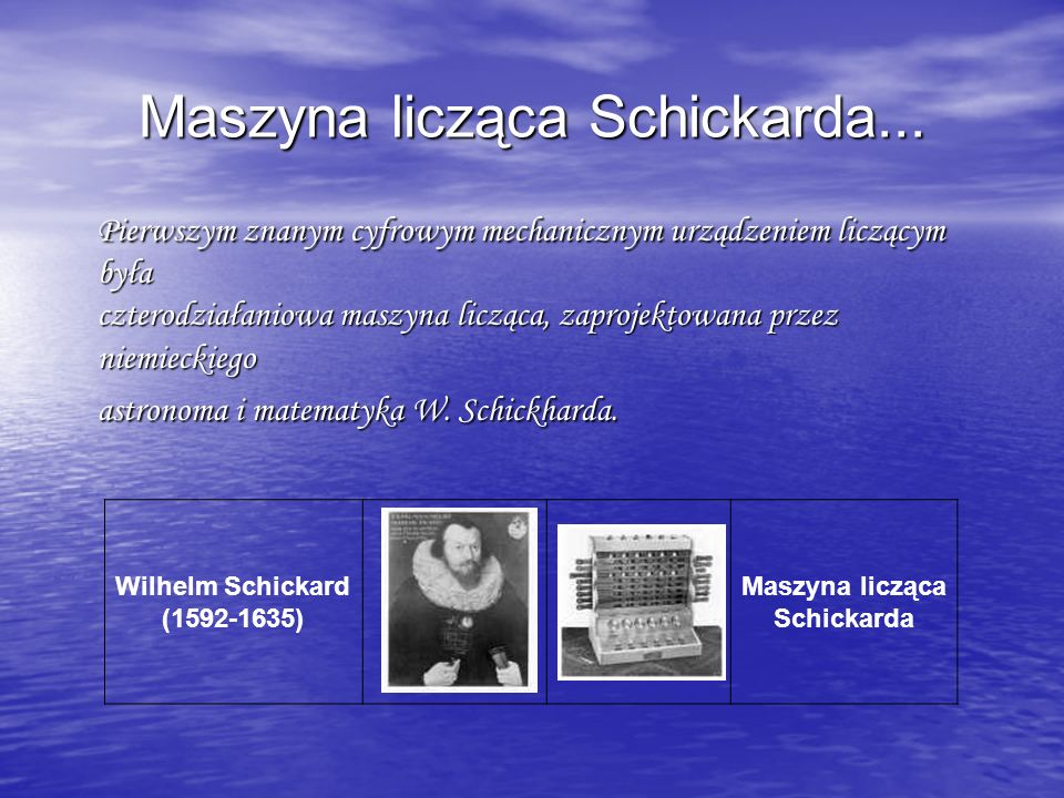 Pascalina maszyna PASkala...W 1643r.