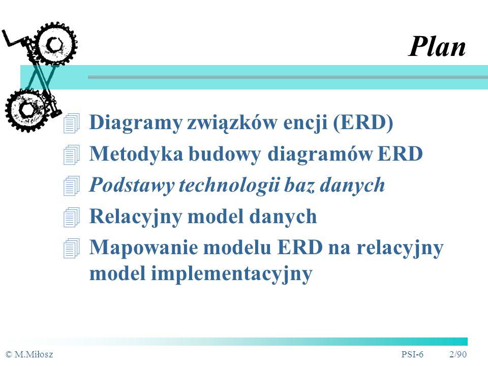 Wykład 5 Modelowanie struktur danych Dr inż. Marek Miłosz