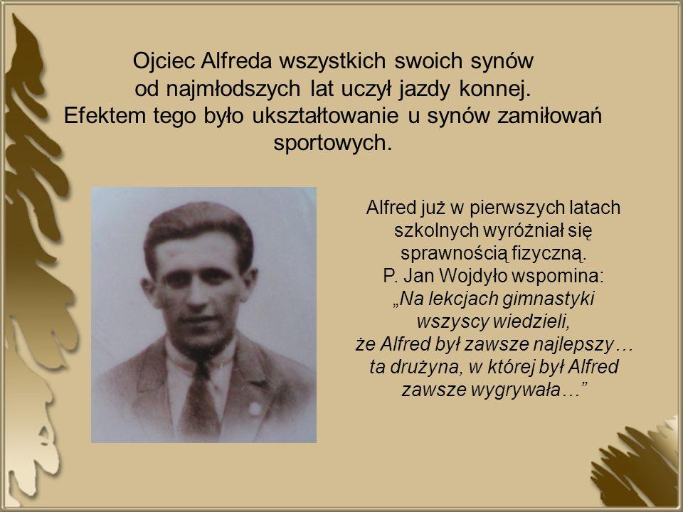 Kariera sportowa Alfreda Freyera była wyjątkowa.Traktowany był jako faworyt każdego biegu.