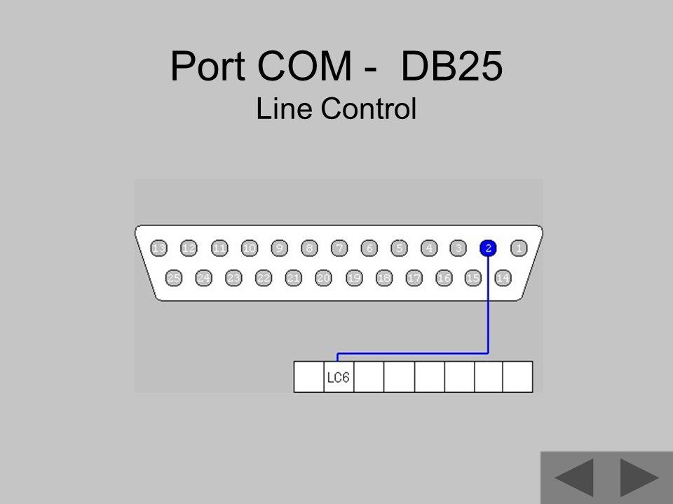 Port COM - DB25 Line Control
