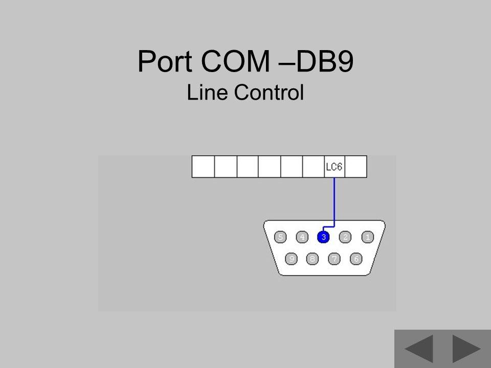 Port COM –DB9 Line Control