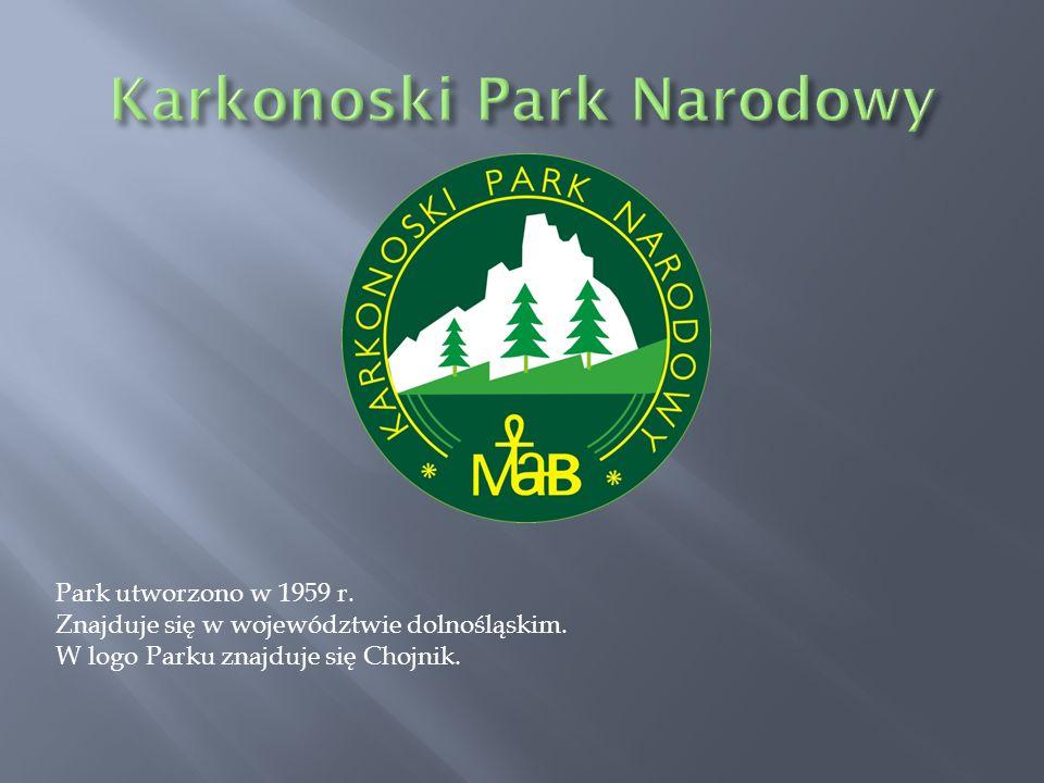Park utworzono w 1959 r. Znajduje się w województwie dolnośląskim. W logo Parku znajduje się Chojnik.
