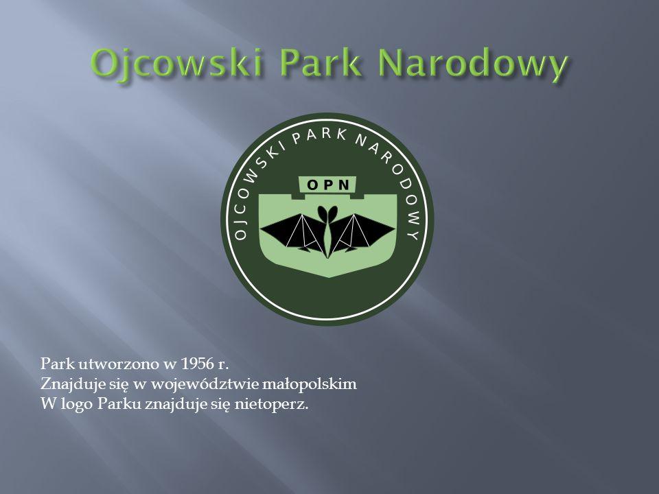 Park utworzono w 1956 r. Znajduje się w województwie małopolskim W logo Parku znajduje się nietoperz.