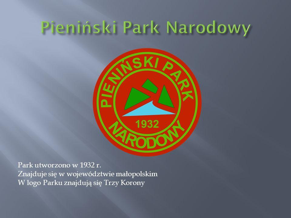 Park utworzono w 1932 r. Znajduje się w województwie małopolskim W logo Parku znajdują się Trzy Korony
