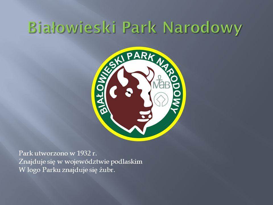 Park utworzono w 1956 r.