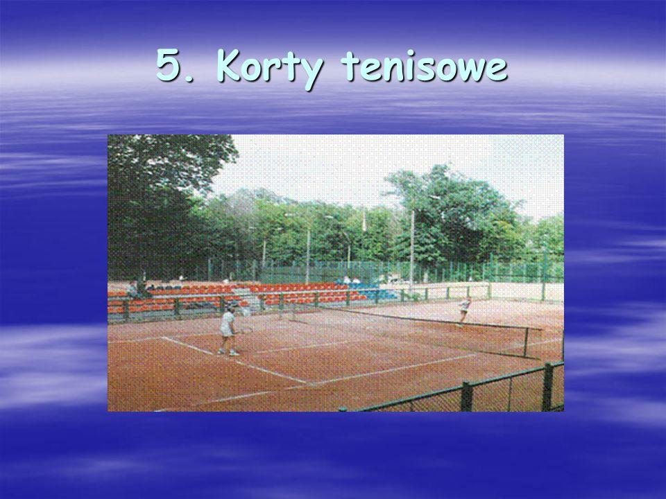 5. Korty tenisowe