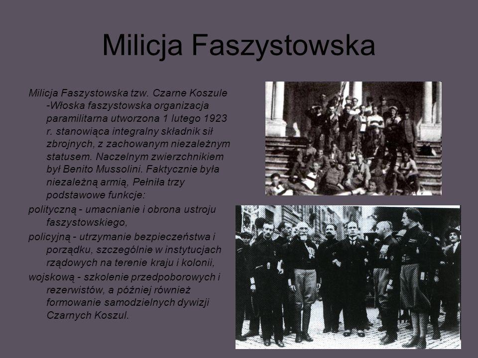 Milicja Faszystowska Milicja Faszystowska tzw.