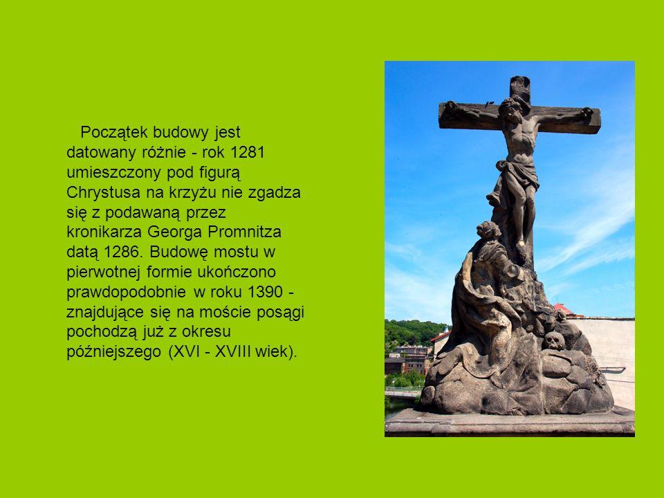 Początek budowy jest datowany różnie - rok 1281 umieszczony pod figurą Chrystusa na krzyżu nie zgadza się z podawaną przez kronikarza Georga Promnitza