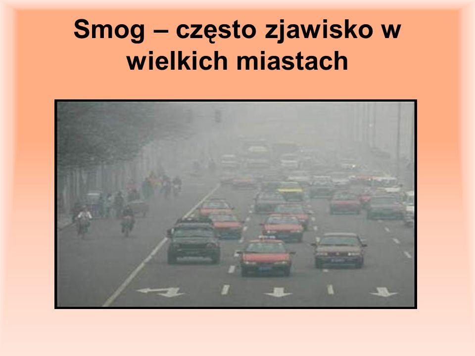 Smog – często zjawisko w wielkich miastach