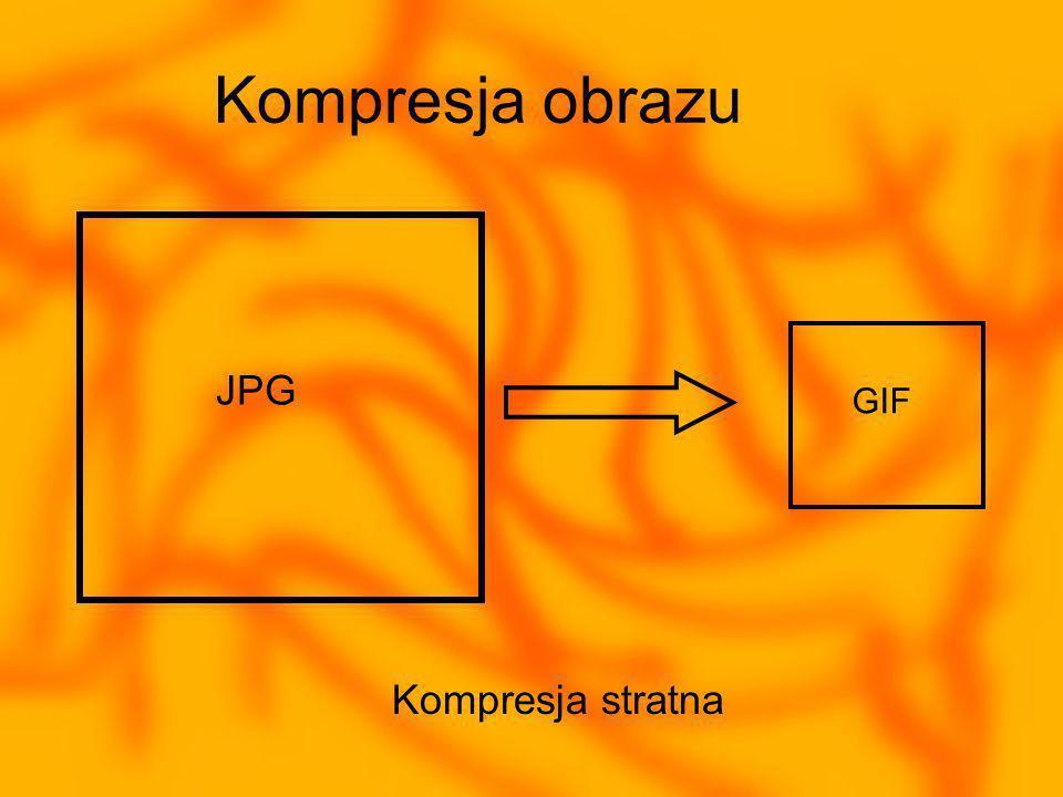 Kompresja obrazu JPG GIF Kompresja stratna