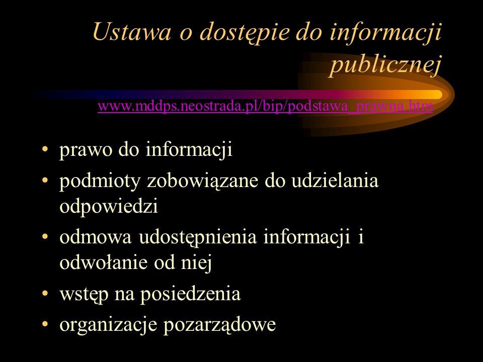 Ustawa o dostępie do informacji publicznej prawo do informacji podmioty zobowiązane do udzielania odpowiedzi odmowa udostępnienia informacji i odwołan