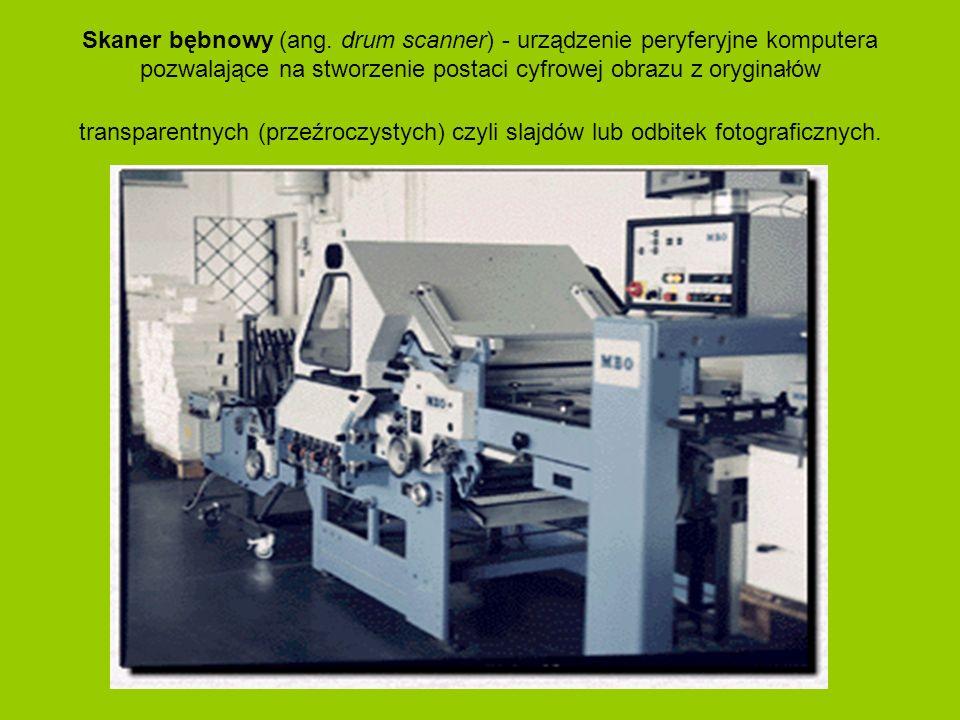 Skaner bębnowy (ang. drum scanner) - urządzenie peryferyjne komputera pozwalające na stworzenie postaci cyfrowej obrazu z oryginałów transparentnych (