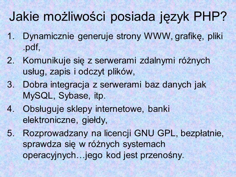 Tablice <?php $tablica[0]= Polska ; $tablica[1]= Niemcy ; $tablica[2]= Czechy ; $tablica[3]= Francja ; printf( Nowi członkowie Unii Europejskiej to: .$tablica[0]. i .$tablica[2]); printf( a starzy trutnie to: .$tablica[1]. i .$tablica[3]); ?> Zapisz jako zadanie009.php i przetestuj skrypt.