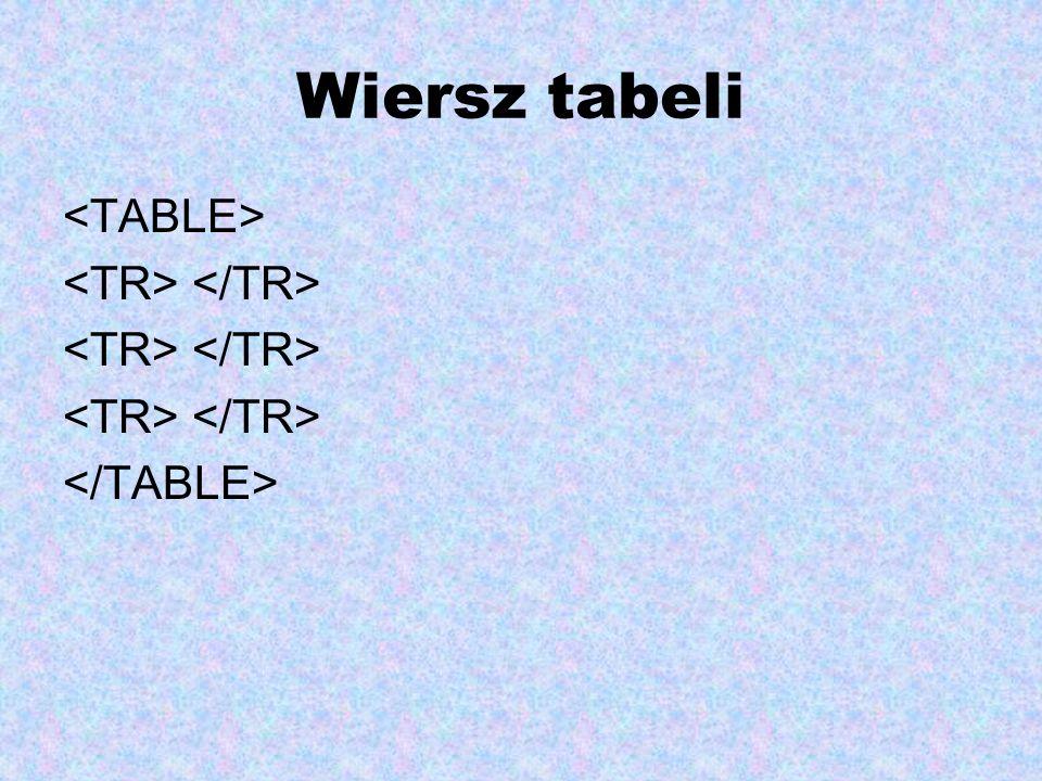 Wiersz tabeli