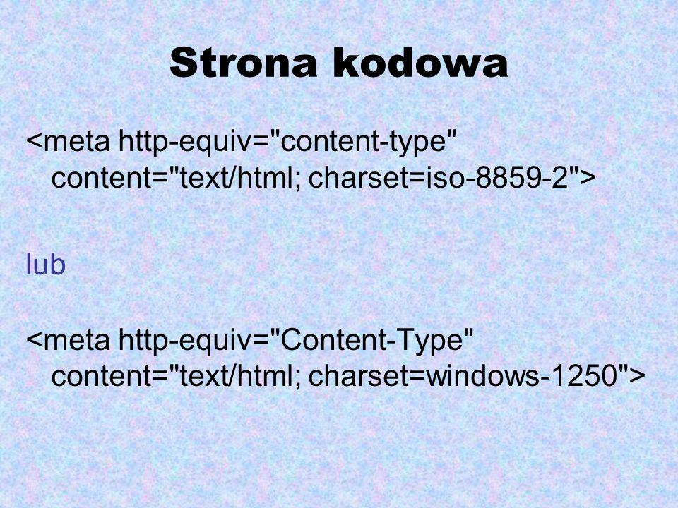 Strona kodowa lub