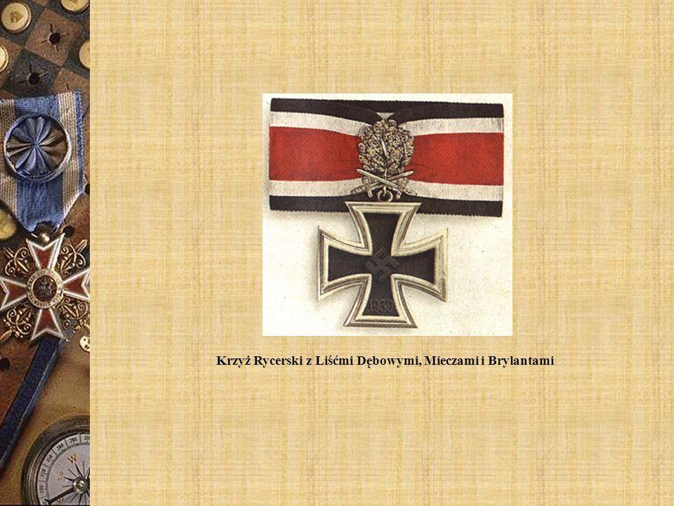 Krzyż Rycerski z Liśćmi Dębowymi, Mieczami i Brylantami