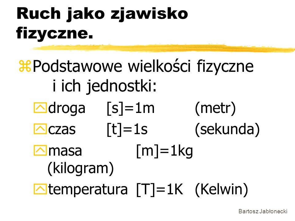 Bartosz Jabłonecki Ruch jednostajny po okręgu.