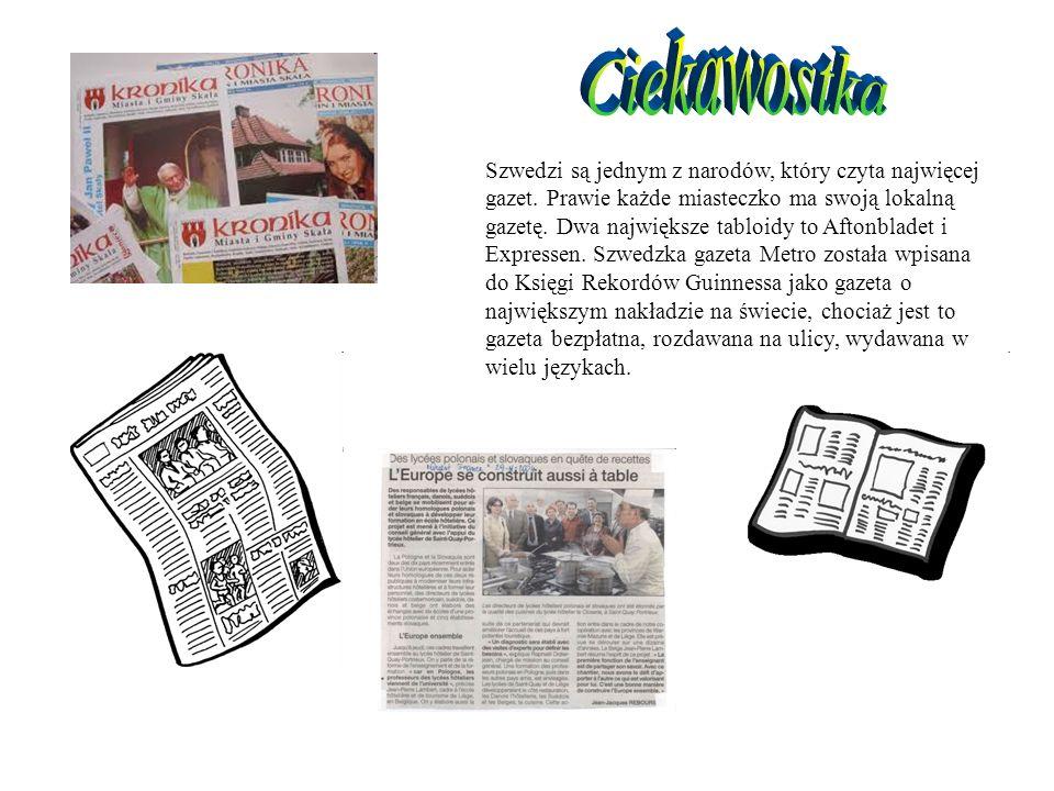 Szwedzi są jednym z narodów, który czyta najwięcej gazet.
