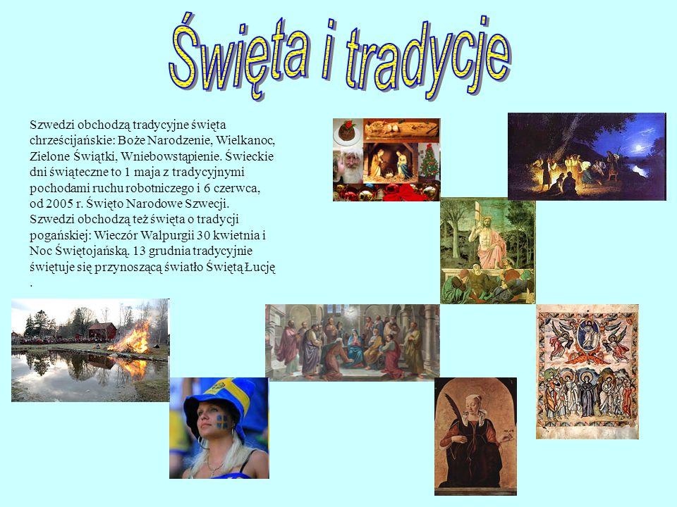 Szwedzi obchodzą tradycyjne święta chrześcijańskie: Boże Narodzenie, Wielkanoc, Zielone Świątki, Wniebowstąpienie.