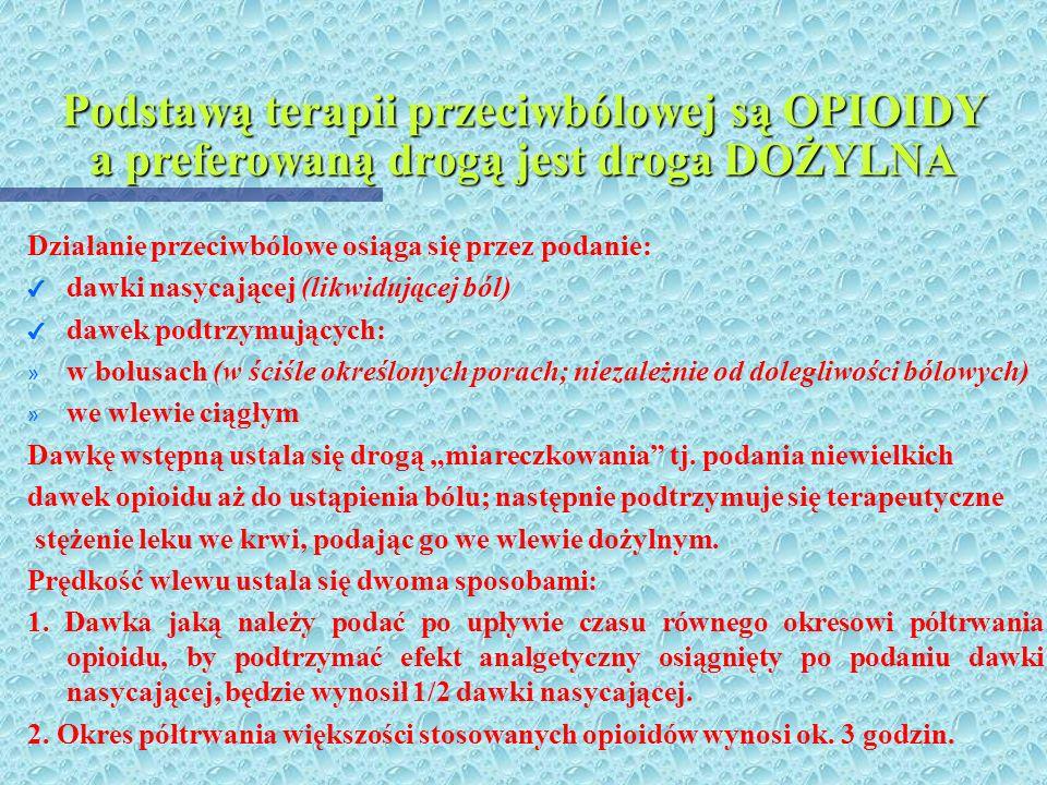 Niesteroidowe środki przeciwbólowe mają OGRANICZONE zastosowanie z powodu: 4 Poziom analgezji ograniczony jest tzw. efektem sufitowym (zwiększenie daw