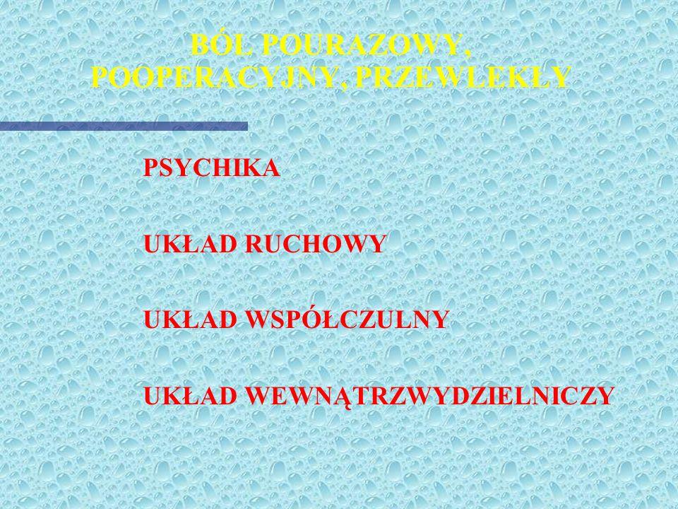 LECZENIE BÓLU OSTREGO Dr n. med. Dariusz Piotrowski Zakład Medycyny Ratunkowej i Medycyny Katastrof Akademii Medycznej w Łodzi