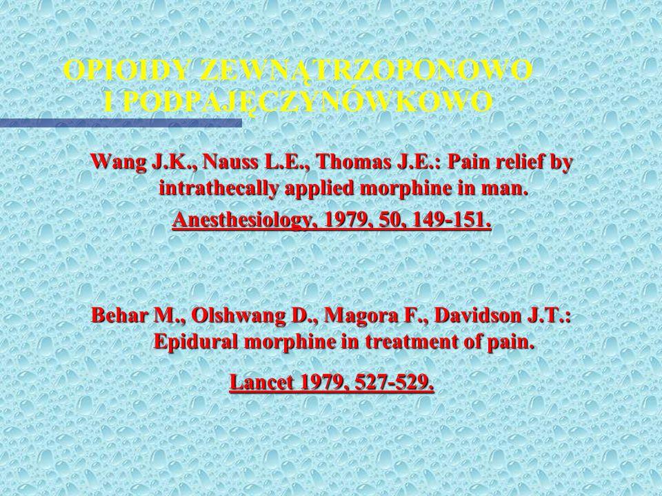 PROTOKÓŁ PROWADZENIA ANALGEZJI metodą PCA (cd.) 9. Przy łóżku chorego NALOKSON - ampułki 0,4 mg 10. GDY WYSTĄPIĄ OBJAWY NIEPOŻĄDANE: skala sedacji 4 w