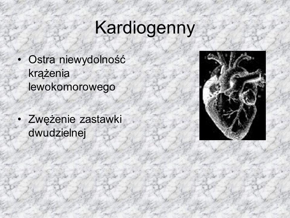 Niekardiogenna Hipowolemia powstanie znacznego podciśnienia w pęcherzykach płucnych (np.: przy wysilonych, daremnych ruchach wdechowych klatki piersiowej w niedrożności oddechowej toksyczne uszkodzenie nabłonka oddechowego (np.: przy oddychaniu gazami lub parami drażniącymi, w zatruciu fosgenem).