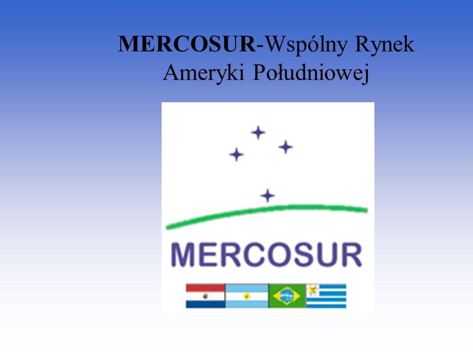 Idea utworzenia MERCOSUR powstała w 1985r.