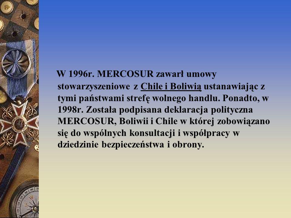 Od 9 grudnia 2005r. do MERCOSUR należy także Wenezuela