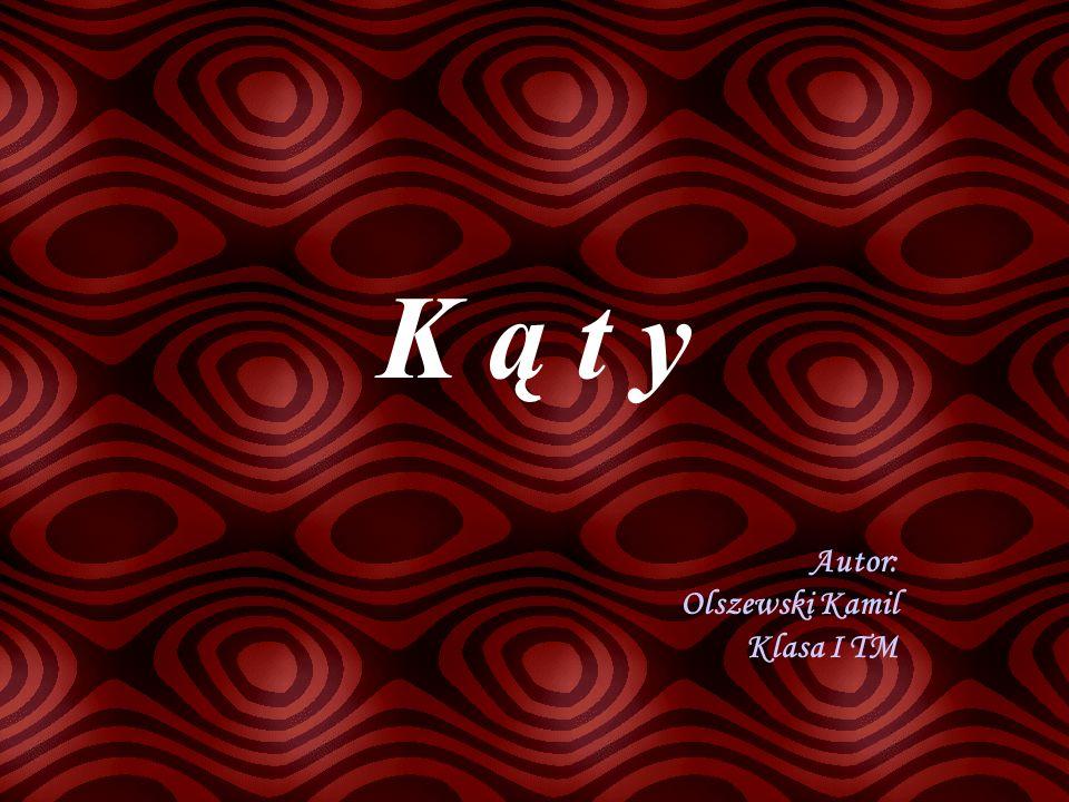 K ą t y Autor: Olszewski Kamil Klasa I TM