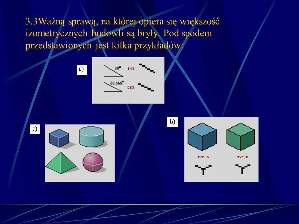 3.3Ważną sprawą, na której opiera się większość izometrycznych budowli są bryły.