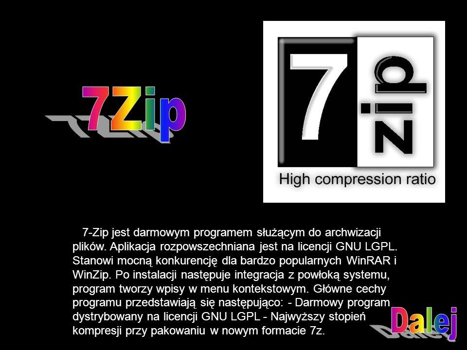 7-Zip jest darmowym programem służącym do archwizacji plików.