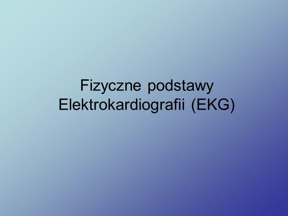 Napięcie (prądu elektrycznego) Nernsta Walther Hermann Nernst (1888) V k = równowagowa różnica potencjałów k-tego jonu na błonie komórkowej i – o tzw., napięcie Nernsta [V] R= stała gazowa [8.314 J/(mol·K)] T= temperatura absolutna [K] z k =wartościowość k-tego jonu F= stała Faraday-a [9.649 × 104 C/mol] c i,k = wewnątrzkomórkowa koncentracja k-tego jonu c o, k = zewnątrzkomórkowa koncentracja k-tego jonu