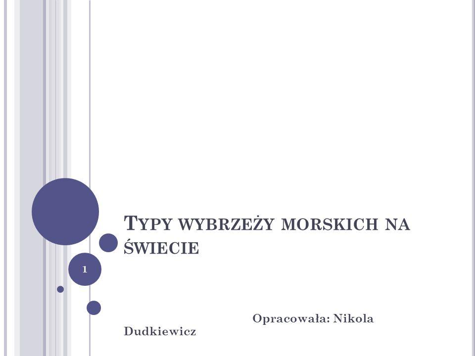 T YPY WYBRZEŻY MORSKICH NA ŚWIECIE Opracowała: Nikola Dudkiewicz 1