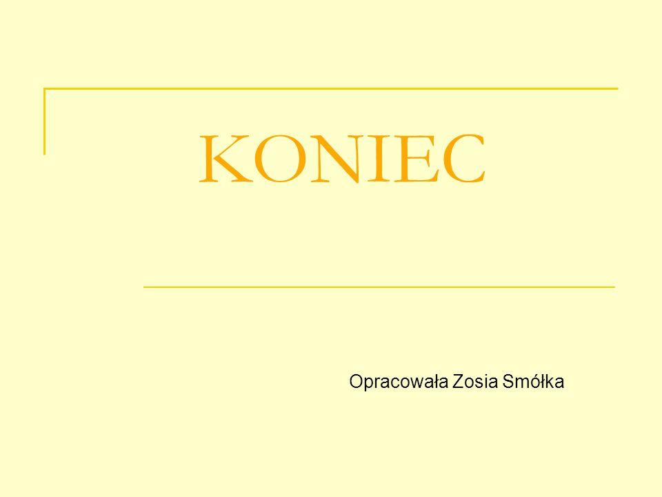 KONIEC Opracowała Zosia Smółka