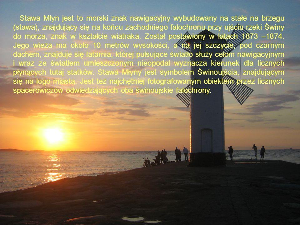 Stawa Młyn jest to morski znak nawigacyjny wybudowany na stałe na brzegu (stawa), znajdujący się na końcu zachodniego falochronu przy ujściu rzeki Świ