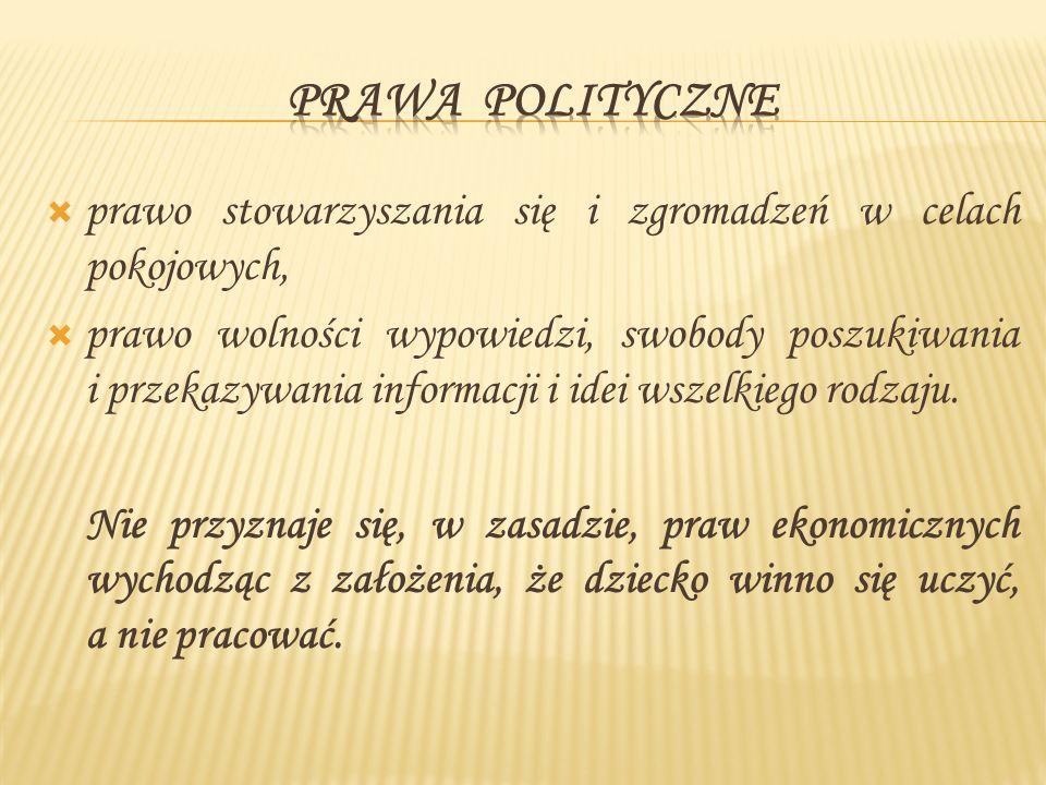 I.Konstytucja Rzeczypospolitej Polskiej II. Ustawa o Rzeczniku Praw Dziecka III.