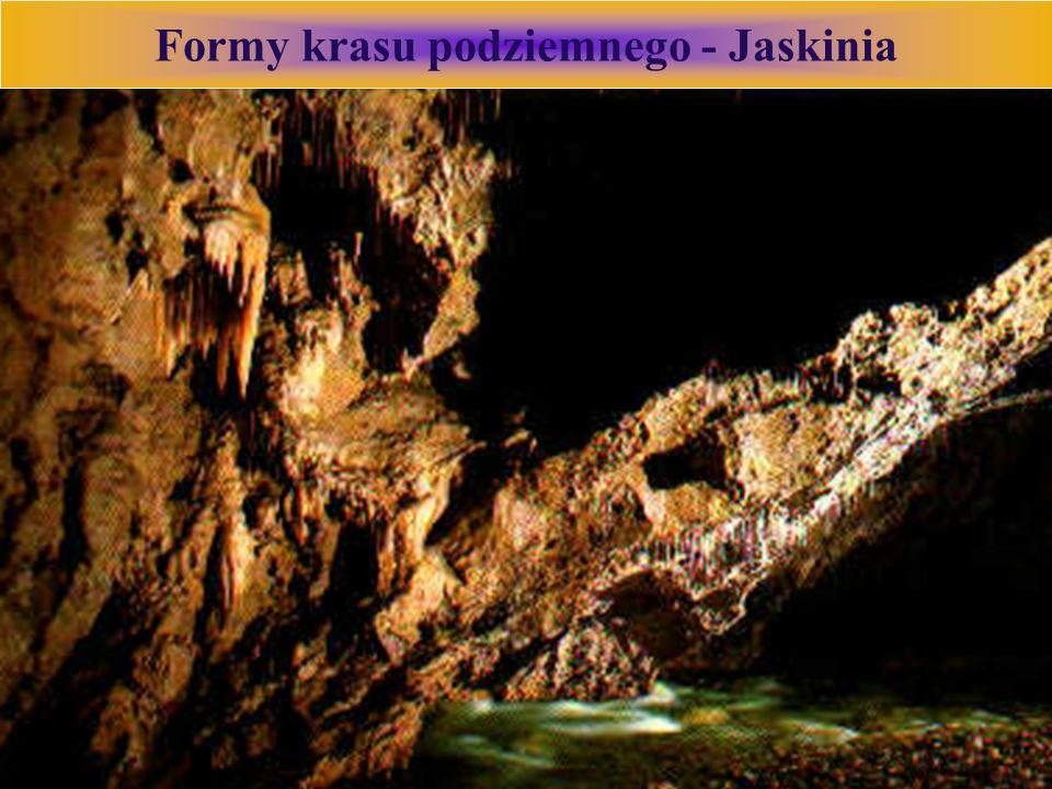 Formy krasu podziemnego - Jaskinia