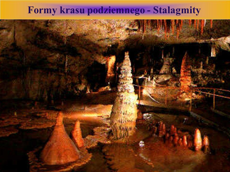 Formy krasu podziemnego - Stalagmity