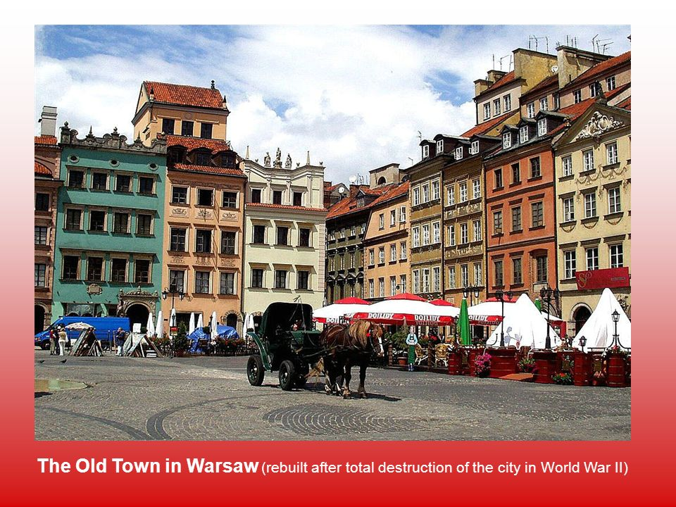The Old Town in Warsaw (rebuilt after total destruction of the city in World War II)