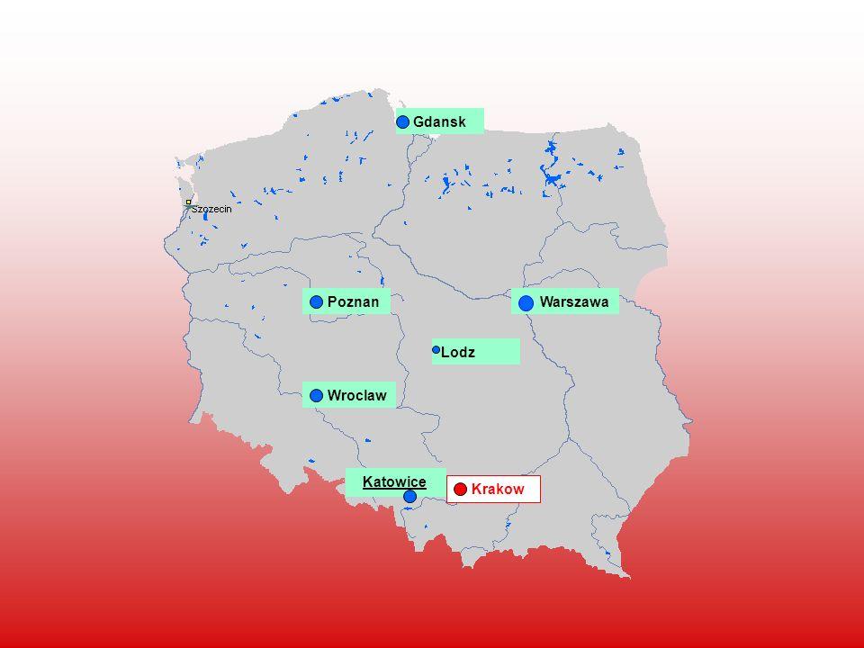 Warszawa Krakow Lodz Wroclaw Gdansk Poznan Katowice