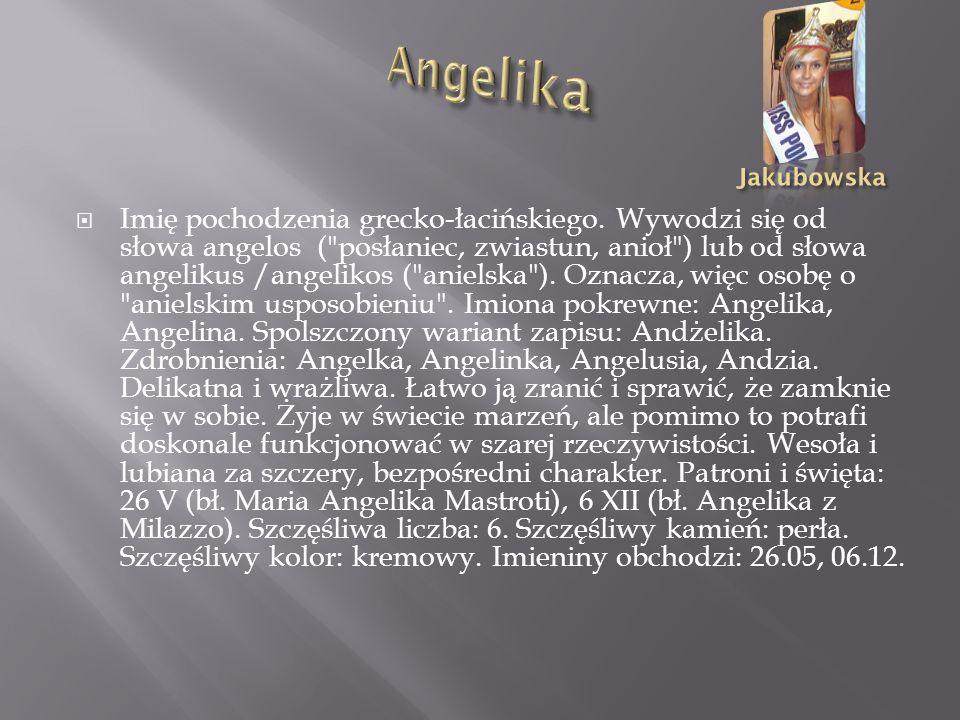 Imię pochodzenia semickiego. Wywodzi się z Biblii od przydomka Marii Magdaleny i oznacza