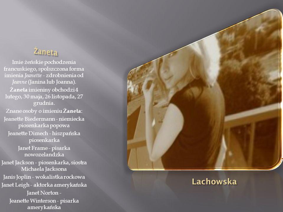 Imię pochodzenia grecko-łacińskiego. Wywodzi się od słowa angelos (