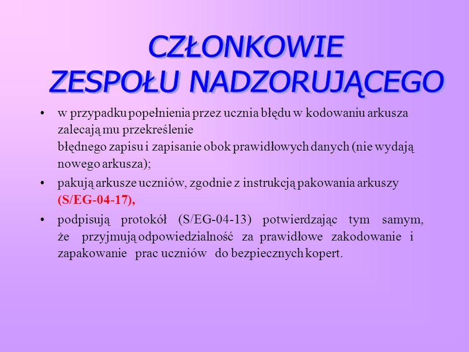 Instrukcje dla PZN i PSZE dotyczące pakowania i przekazywania prac uczniów i dokumentacji do Punktów Odbioru Prac.