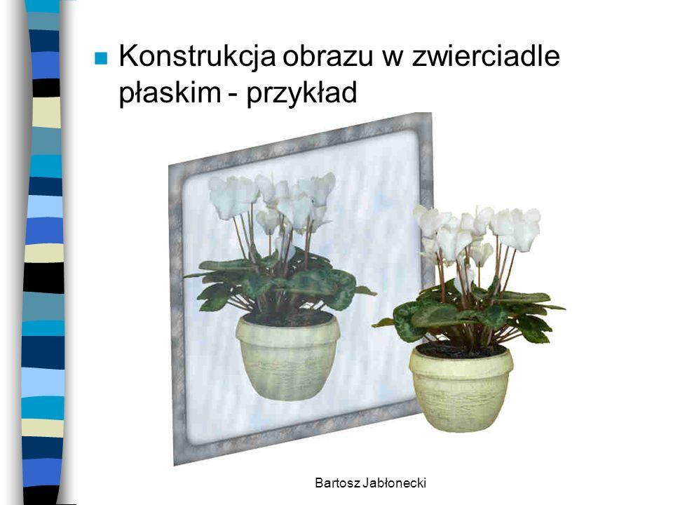 Bartosz Jabłonecki n Konstrukcja obrazu w zwierciadle płaskim - przykład