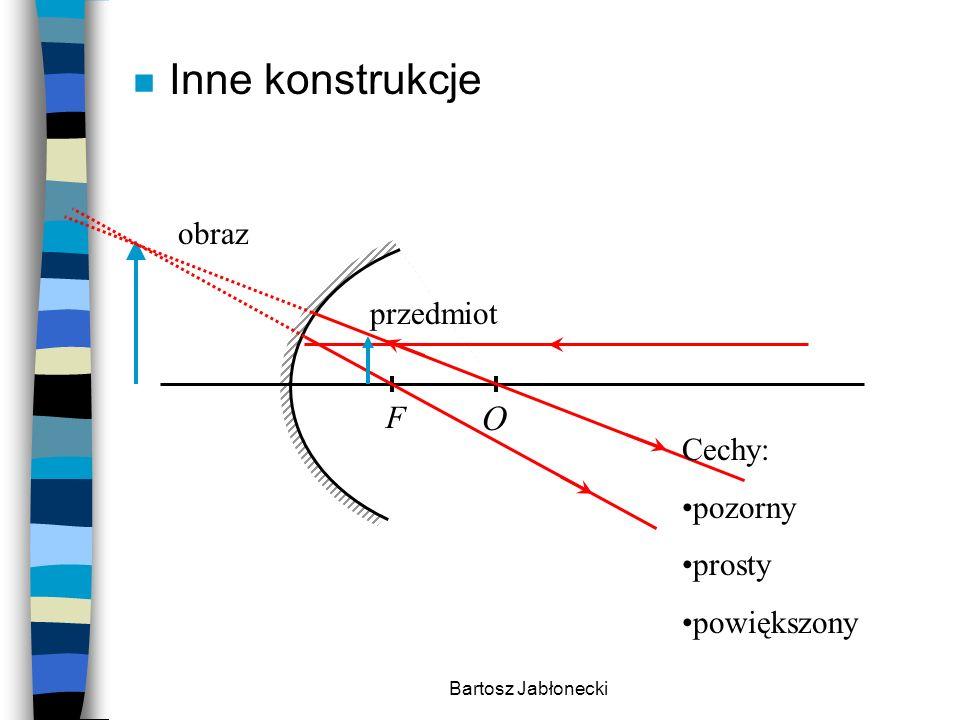 Bartosz Jabłonecki n Inne konstrukcje F O przedmiot obraz Cechy: pozorny prosty powiększony